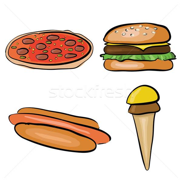 doodle fastfood Stock photo © glorcza