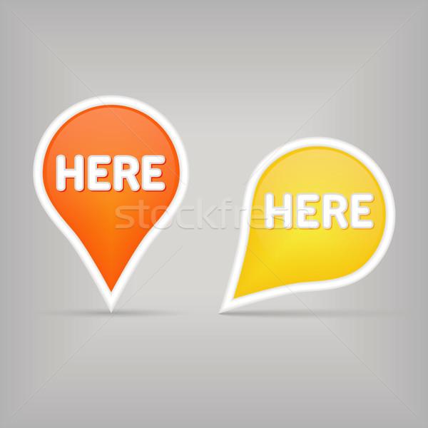 Térkép felirat kettő feliratok üzlet terv Stock fotó © glorcza