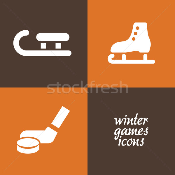 winter game icons Stock photo © glorcza
