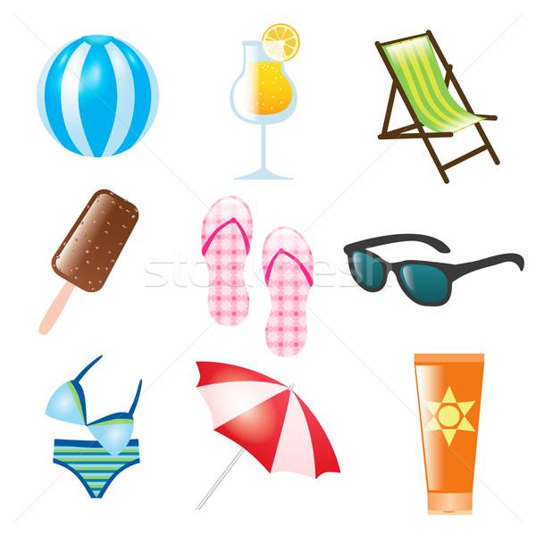 summer icons Stock photo © glorcza