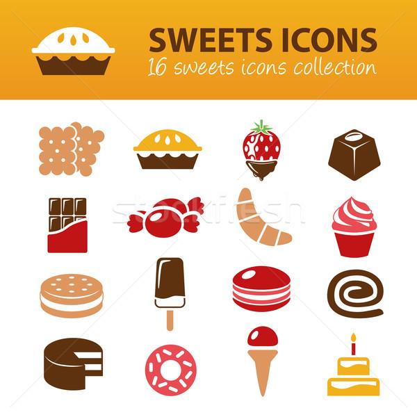 Stok fotoğraf: şekerleme · simgeler · dizayn · çikolata · şeker · bilgi