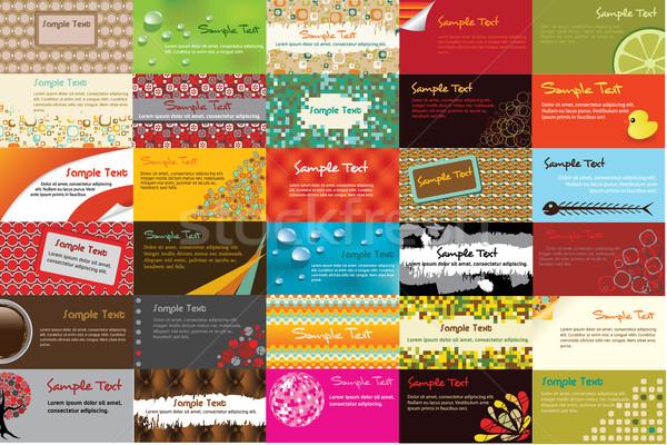 business cards Stock photo © glorcza