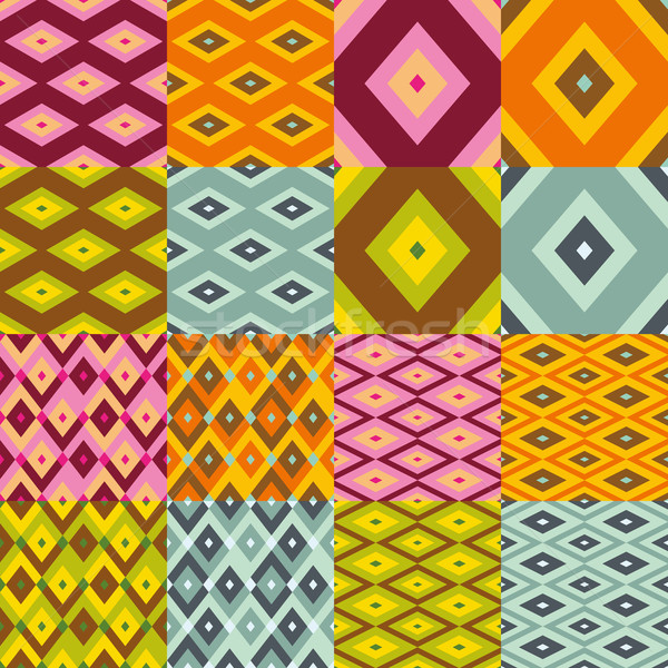 rhomboid seamless pattern collection Stock photo © glorcza