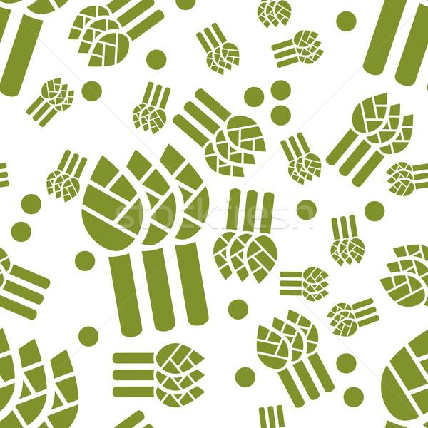 asparagus seamless pattern Stock photo © glorcza