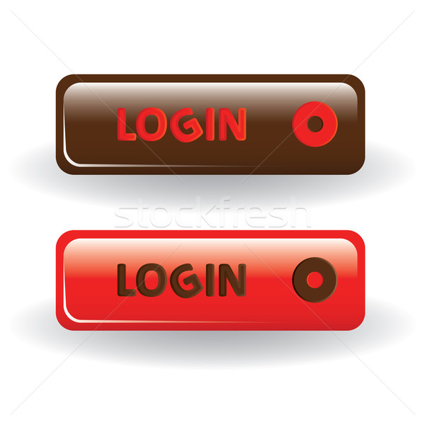Inloggen knoppen bruin Rood internet abstract Stockfoto © glorcza