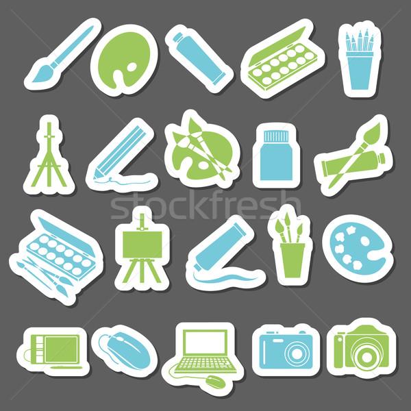 art stickers icon Stock photo © glorcza