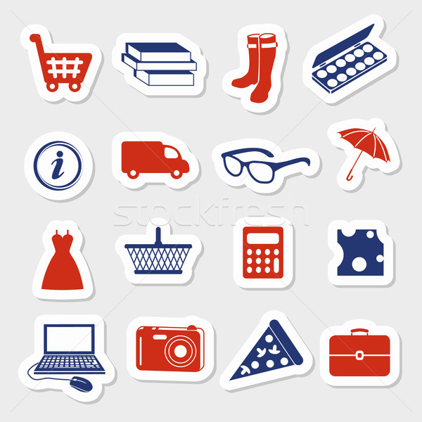 shopping stickers Stock photo © glorcza