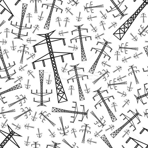 Elektriciteit paal ontwerp achtergrond weefsel Stockfoto © glorcza