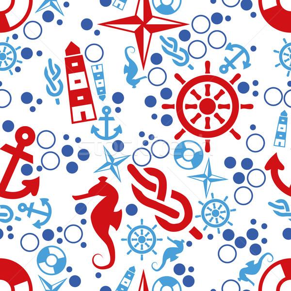 marine seamless pattern Stock photo © glorcza