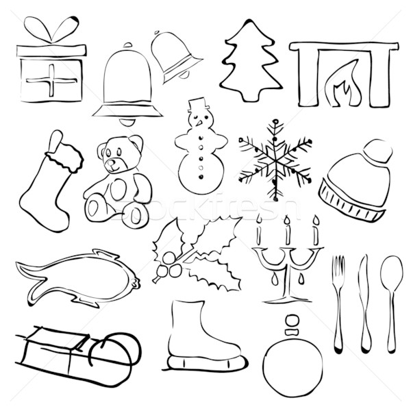 doodle christmas images Stock photo © glorcza