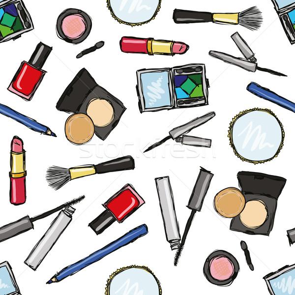 seamless cosmetics pattern Stock photo © glorcza