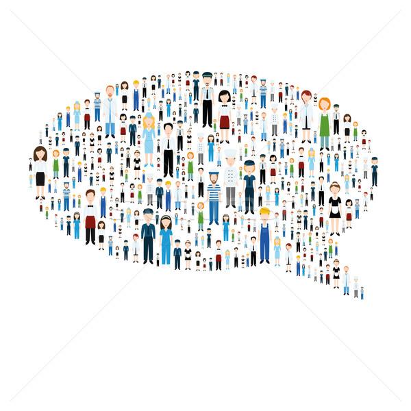 Comunicación burbuja personas negocios hombre médico Foto stock © glorcza