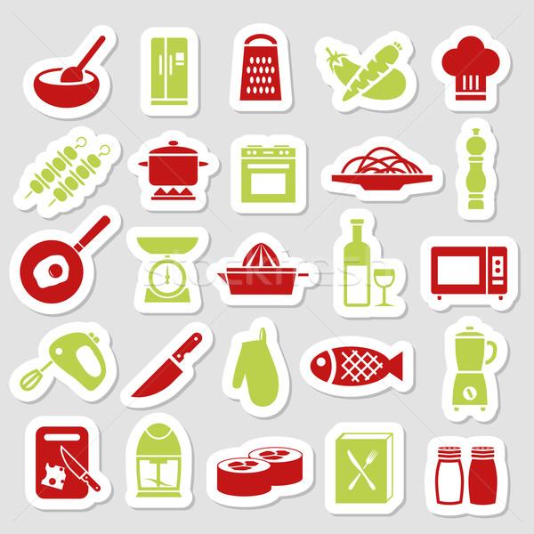 cooking stickers Stock photo © glorcza