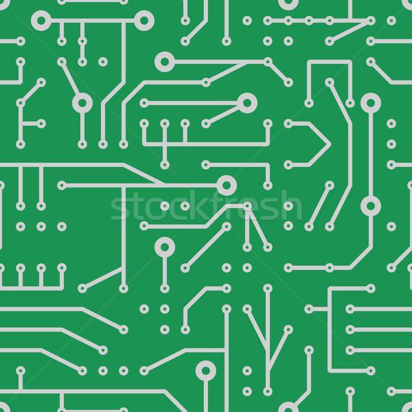 Afgedrukt circuit abstract weefsel macht Stockfoto © glorcza