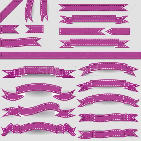 violet ribbons Stock photo © glorcza