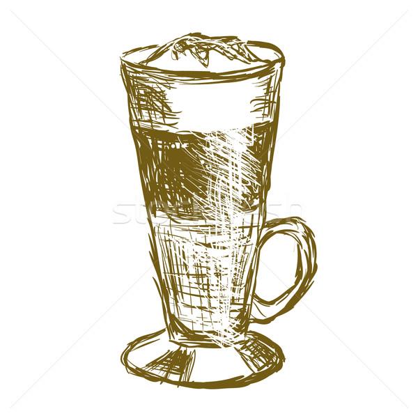 doodle latte macchiato coffee Stock photo © glorcza