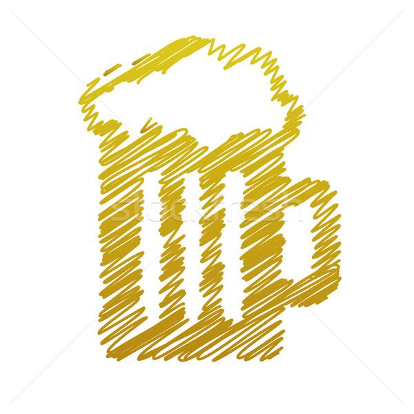 handwriting beer picture Stock photo © glorcza