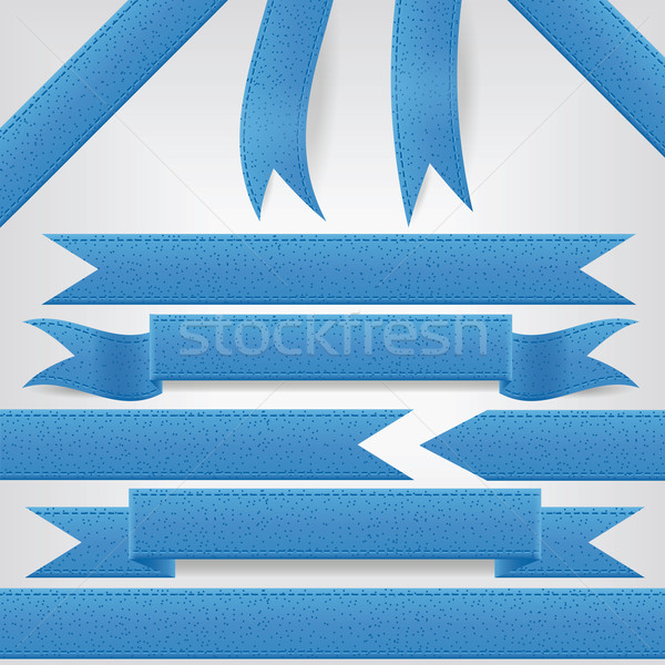 set of blue ribbons Stock photo © glorcza