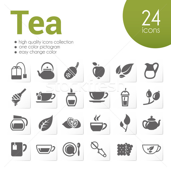 tea icons Stock photo © glorcza