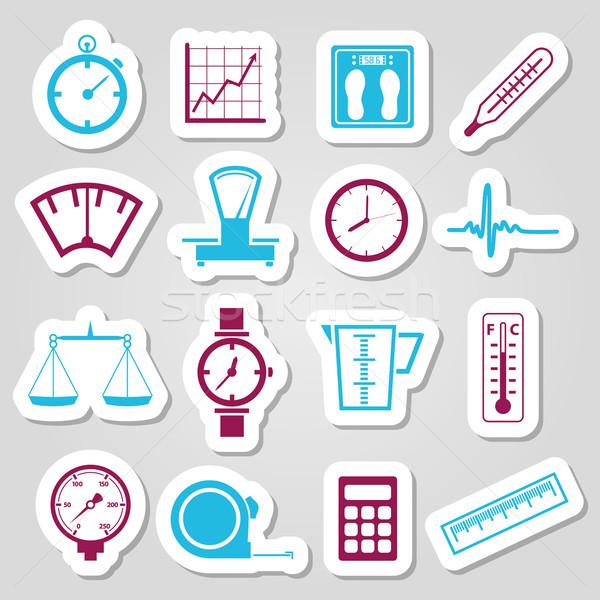 measuring stickers Stock photo © glorcza