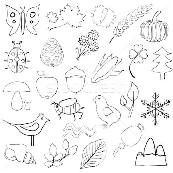 doodle nature pictures Stock photo © glorcza