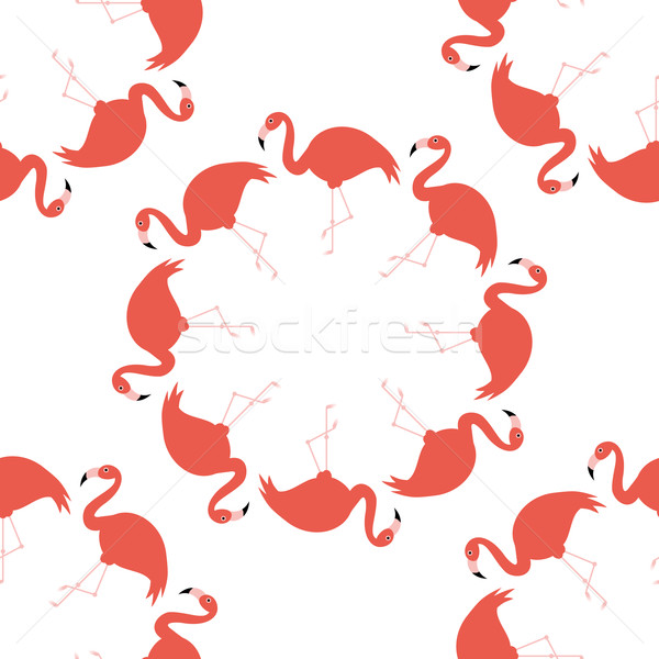 seamless flamingo pattern Stock photo © glorcza