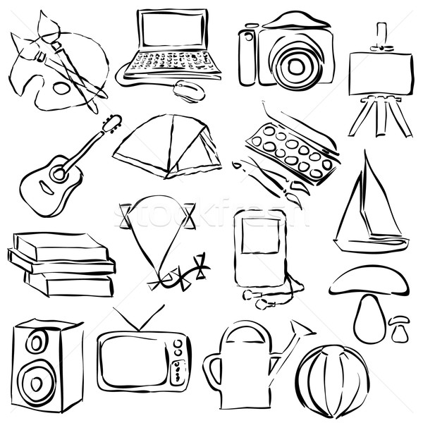 hobby doodle images Stock photo © glorcza