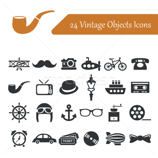 vintage objects icons Stock photo © glorcza