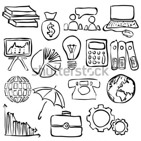 Economie doodle computer geld licht Stockfoto © glorcza