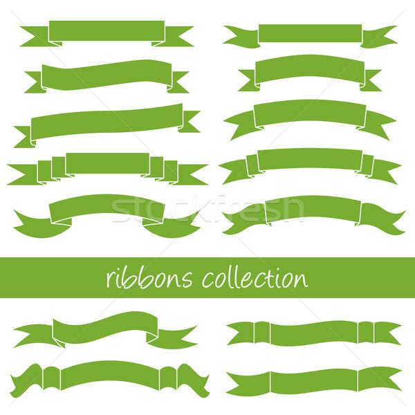Stock photo: green ribbons
