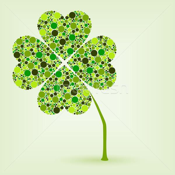 dots four leaf clover Stock photo © glorcza