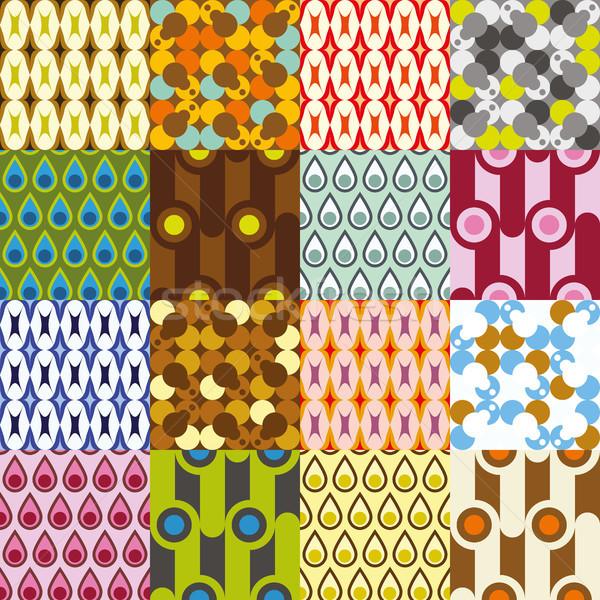 retro  pattern collection Stock photo © glorcza