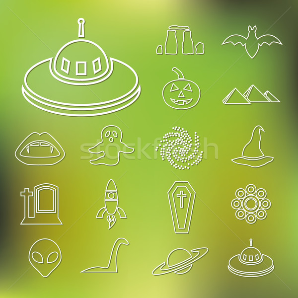 mystic outline icons Stock photo © glorcza