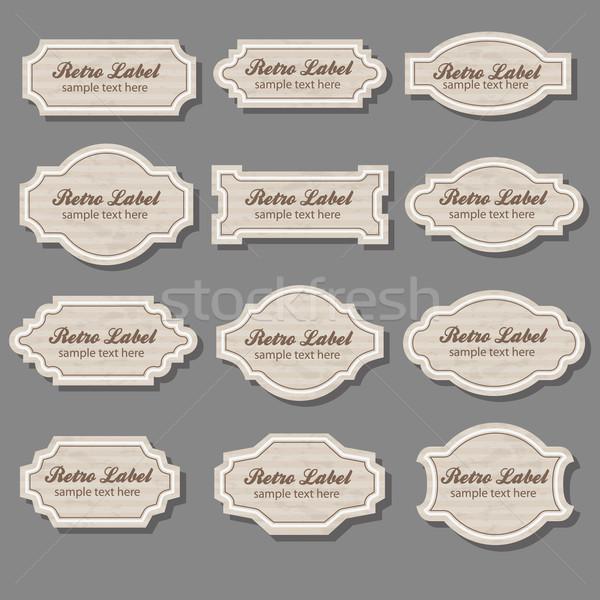 Klasszikus címkék felirat bolt retro weboldal Stock fotó © glorcza