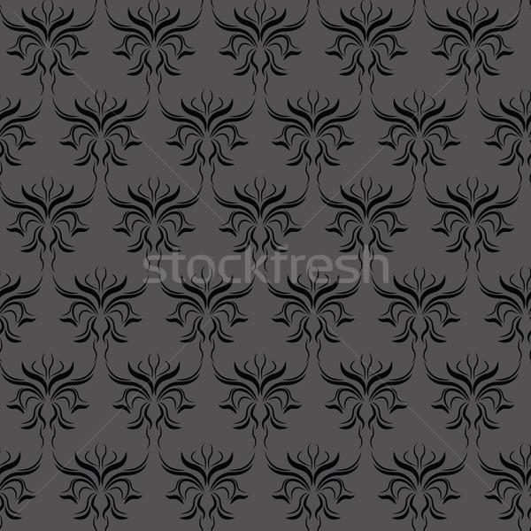 Damasco patrón oscuro diseno arte retro Foto stock © glorcza