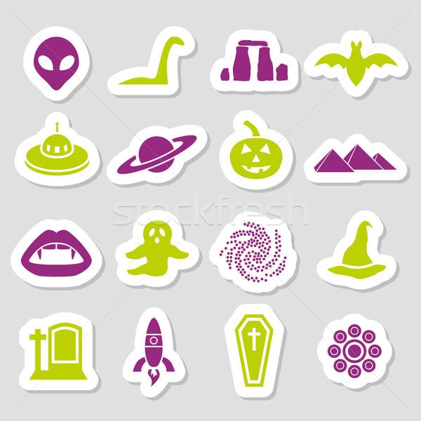 mystic stickers Stock photo © glorcza