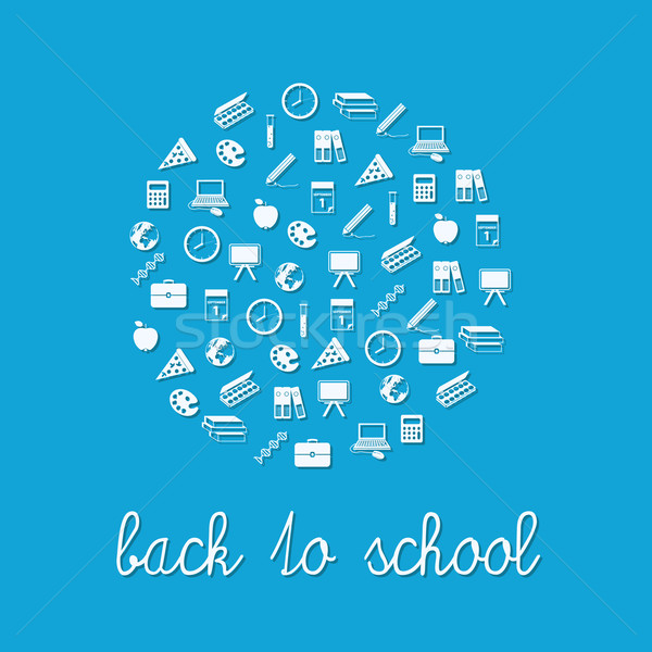 back to school circle Stock photo © glorcza