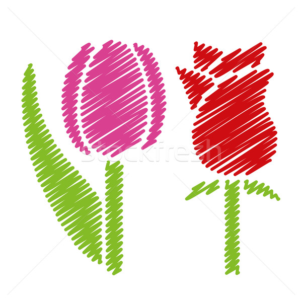 handwriting flower pictures Stock photo © glorcza