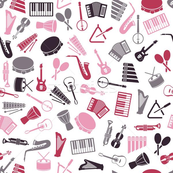music instruments seamless pattern Stock photo © glorcza