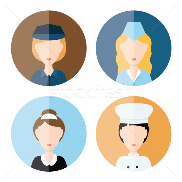 Mujeres profesión iconos diseno signo policía Foto stock © glorcza