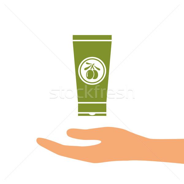 olive oil hand cram Stock photo © glorcza