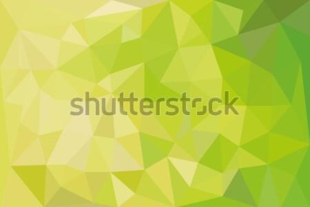 Absztrakt háttér modern citromsárga mozaik vektor Stock fotó © glorcza