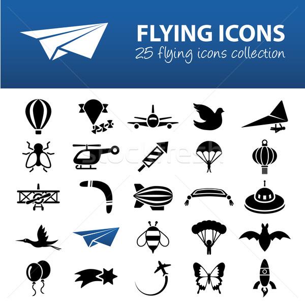 flying icons Stock photo © glorcza