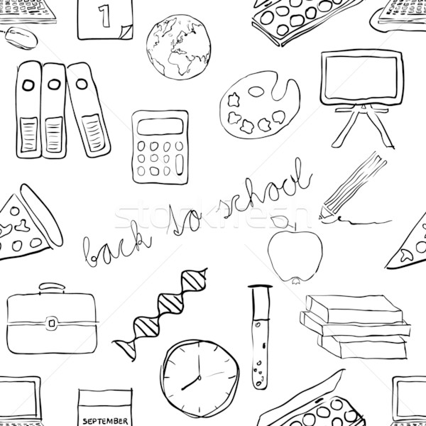 doodle school seamless pattern Stock photo © glorcza