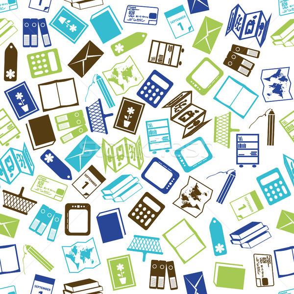 Librería pluma diseno fondo calendario Foto stock © glorcza