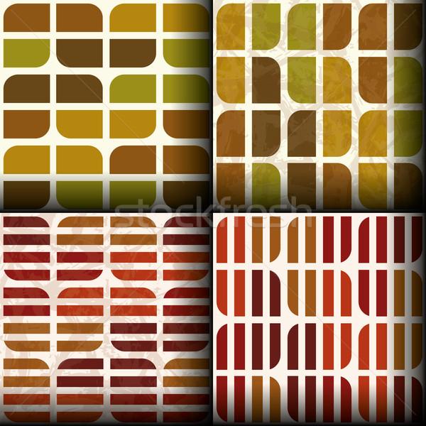 seamless patterns with autumn colours Stock photo © glorcza