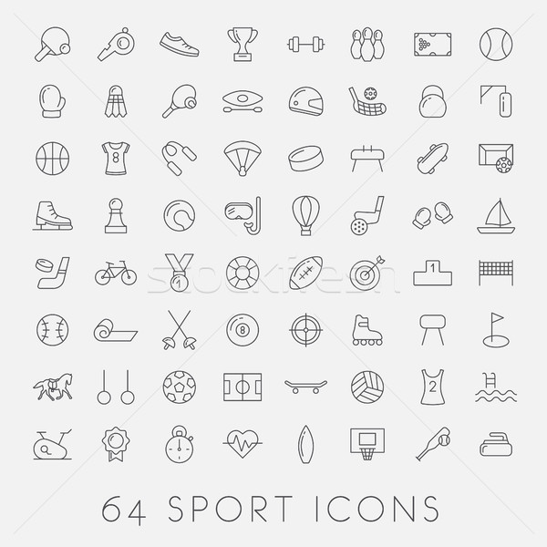 big set of sport icons Stock photo © glorcza