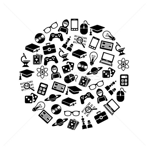 geek icons in circle Stock photo © glorcza