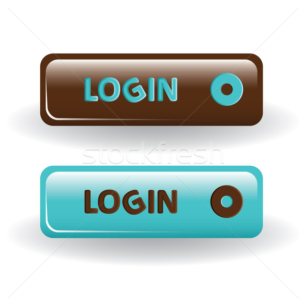 Login pulsanti rosolare blu internet abstract Foto d'archivio © glorcza