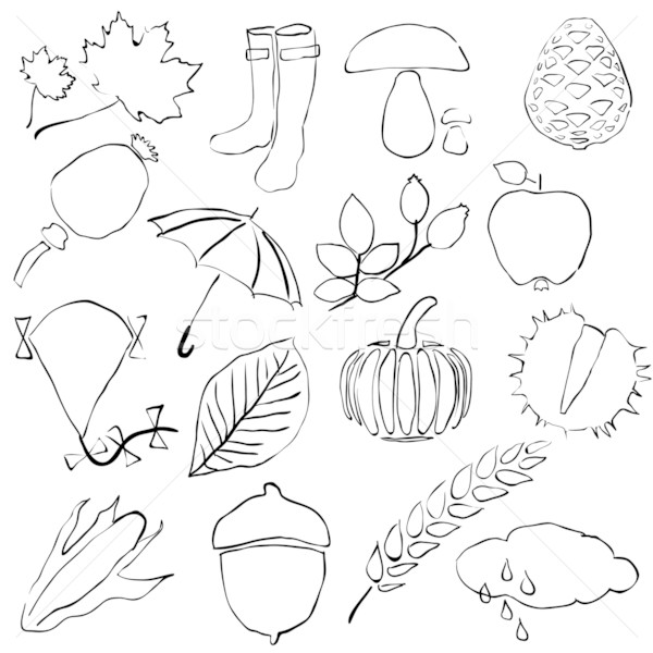 Doodle Autumn Images Vector Illustration C Marie Nimrichterova